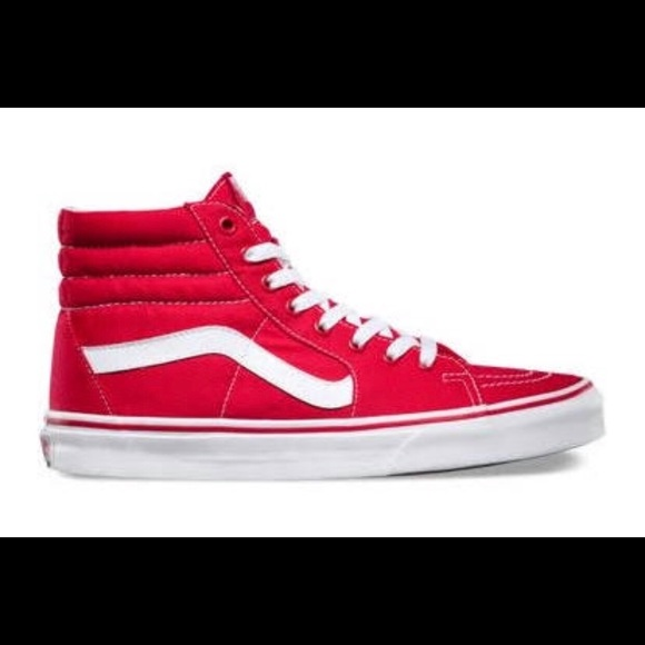 5fecbc651c Red high-top woman s Vans. PRICE IS FIRM🌹. M 5a6b79e99a94551b4088e456